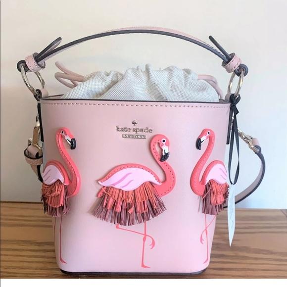kate spade Handbags - Kate spade flamingo pippa by the pool bucket bag